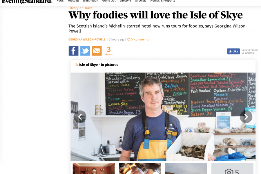 Isle of Skye | Evening Standard | Travel | Skye Luxury Accommodation | Georgina Wilson-Powell | Skye White House | Skye Window House